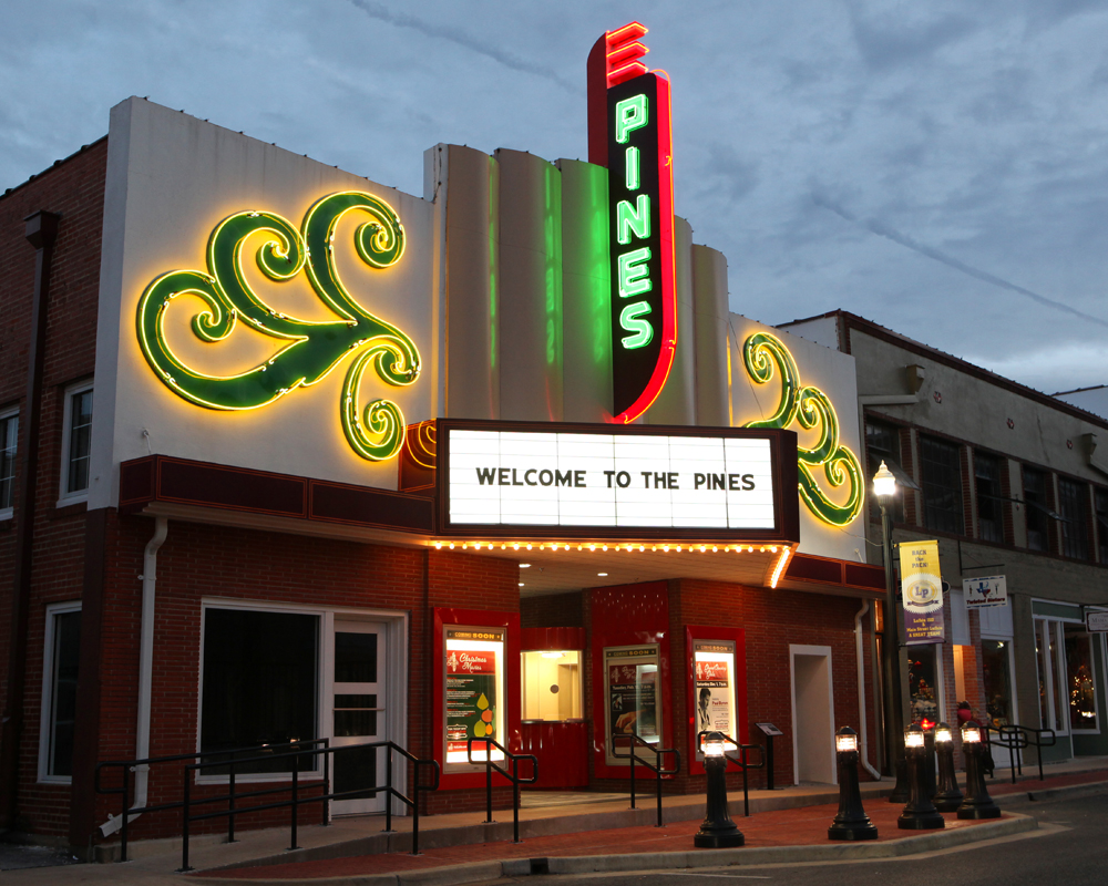 The Pines Theater in Downtown Lufkin Texas